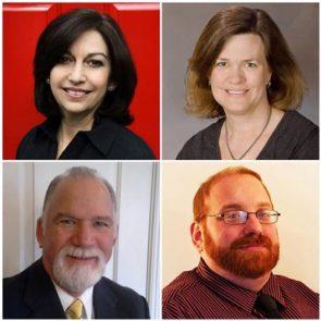 Judy Levine-Maizels, Kathryn West, Michael Corcoran and Nick Gianfrancesco portraits
