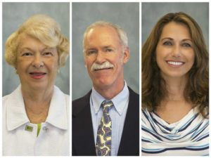 From left, Dolores Mehan-Giordano, Bill DeGrouchey and Bettina Steiger will join Long & Foster with Ron Giordano of Atlantic Beach Realty.