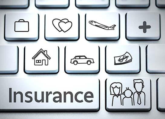 insurance keyboard image