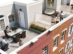 Southwark on Reed Rooftop Deck Rendering