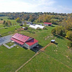 Aerial view Aliabaad Farm 4040 Mills Rd