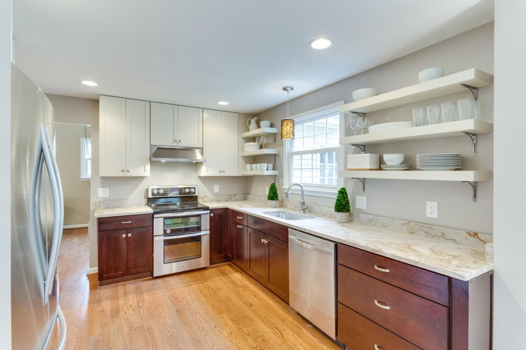 This Fairfax, Virginia, home, listed with Cathy DeLoach, features quartzite counters.