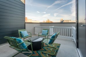 Private rooftop decks are one of the many features in the Southwark on Reed community.