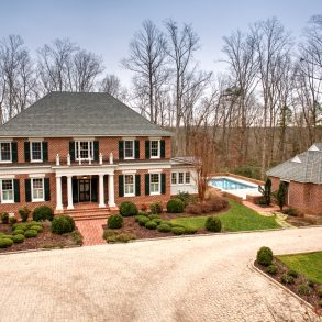 This lovely Rockville, Virginia home has four bedrooms, four and a half bathrooms, a pool and 20 acres of land.