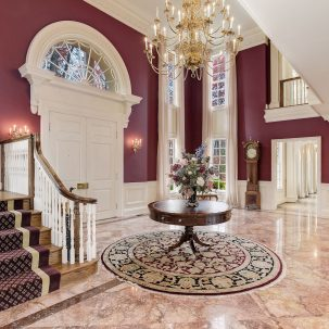 Manor Stone Drive Foyer