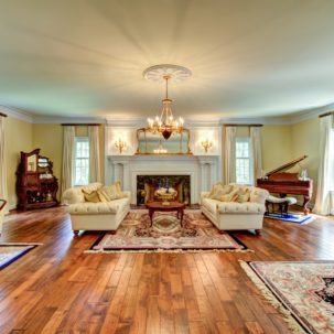 Living Room at 209 Dryden Lane in Richmond