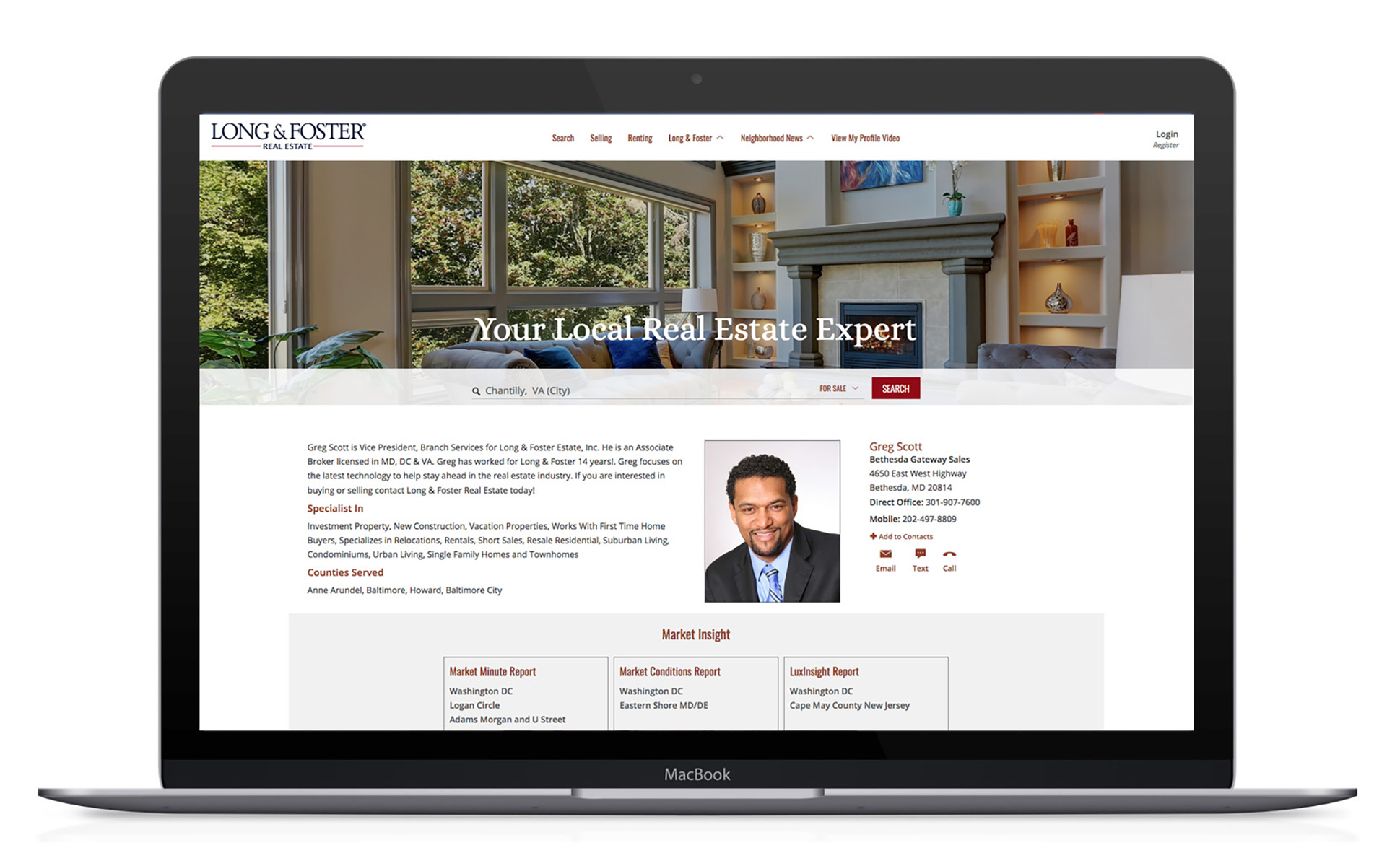 Long & Foster New Agent Websites