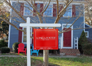 Long & Foster For Sale Yard Sign Blue House