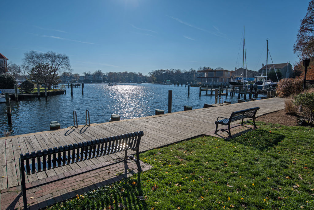 View of the water in Annapolis, MD
