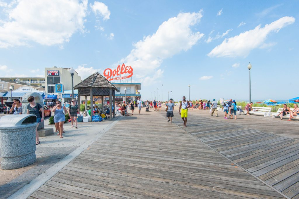 Boardwalk in Rehoboth Beach, DE