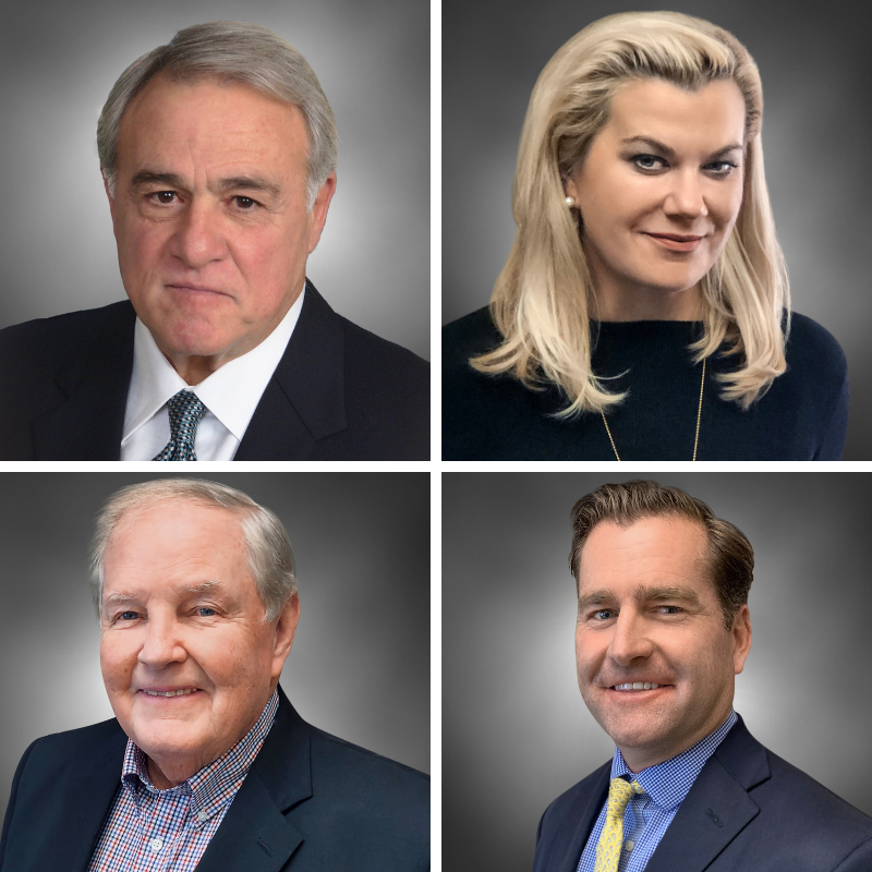 Pictured Dennis Calabrese (top left), Denise Doyle (top right), George Gillespie (bottom left) and David Gorelick (bottom left).