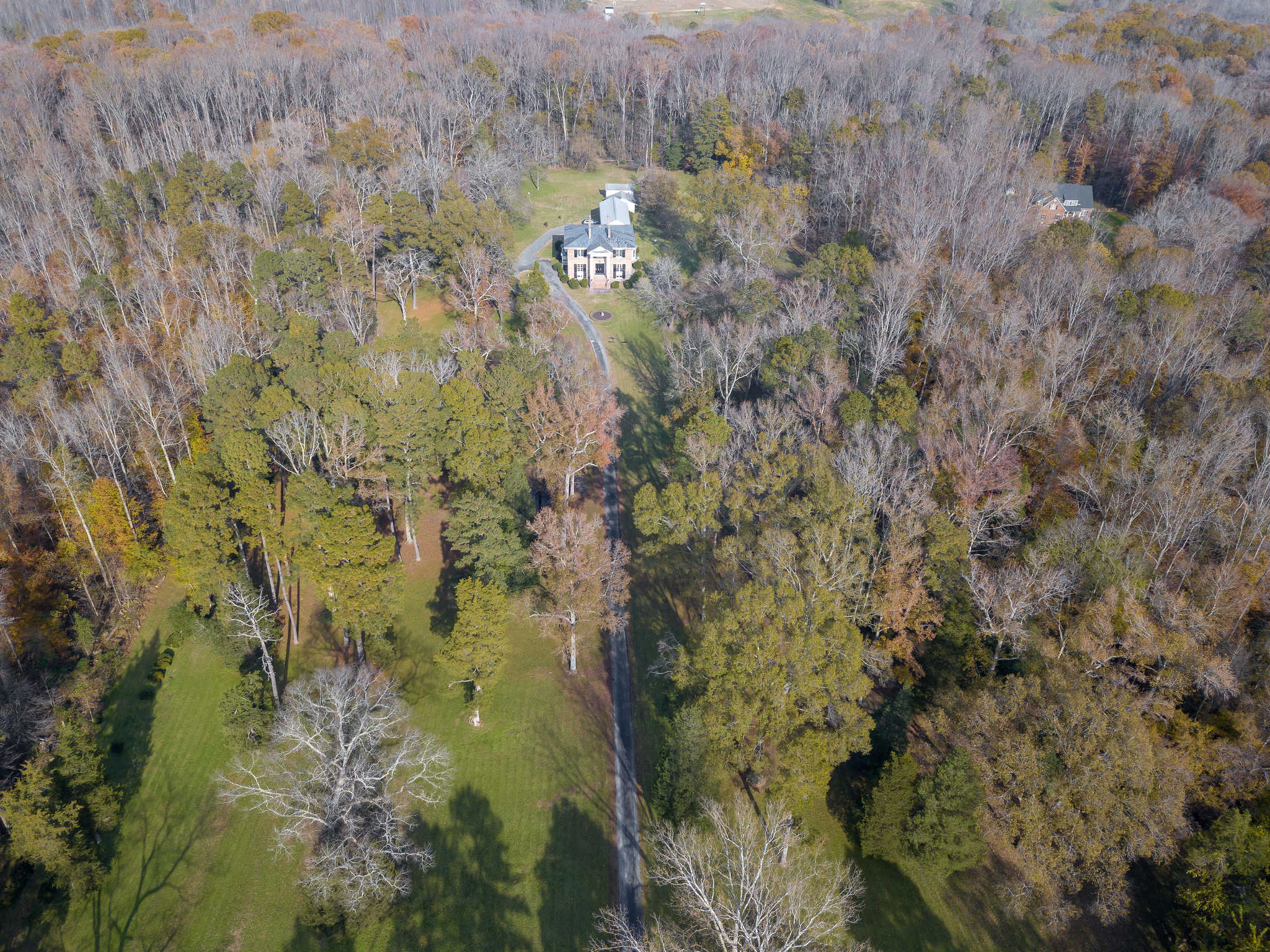 Aeriel view of home