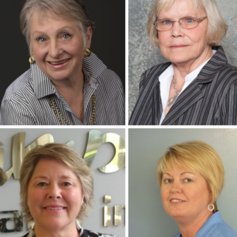 Clockwise from top: Paula Reeder, Patsy Whiteley, Teresa Kruhm & Debra Meikle