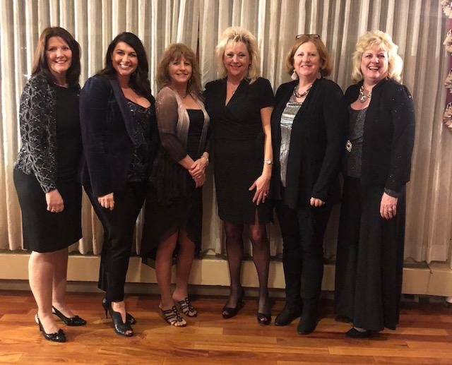Left to right – Fay Fletcher, Jessica Lindsay, Deanna Denny, Patty Gates, Nancy Steinke, Vickie Zevgolis
