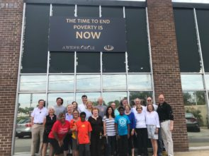 Agents and employees from the Bethesda All Points office participate in Community Service Day