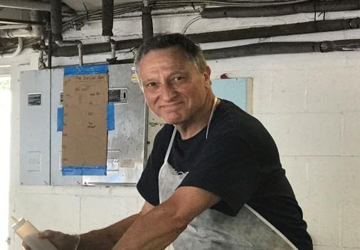 Nick Vandekar volunteering on Community Service Day