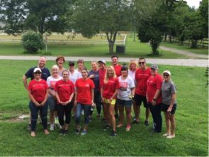 Agents and employees from the Oceanfront/Coastal office on Community Service Day