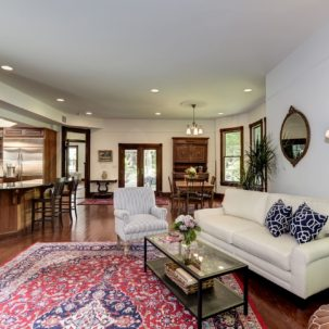 Kitchen, informal dining area & family room