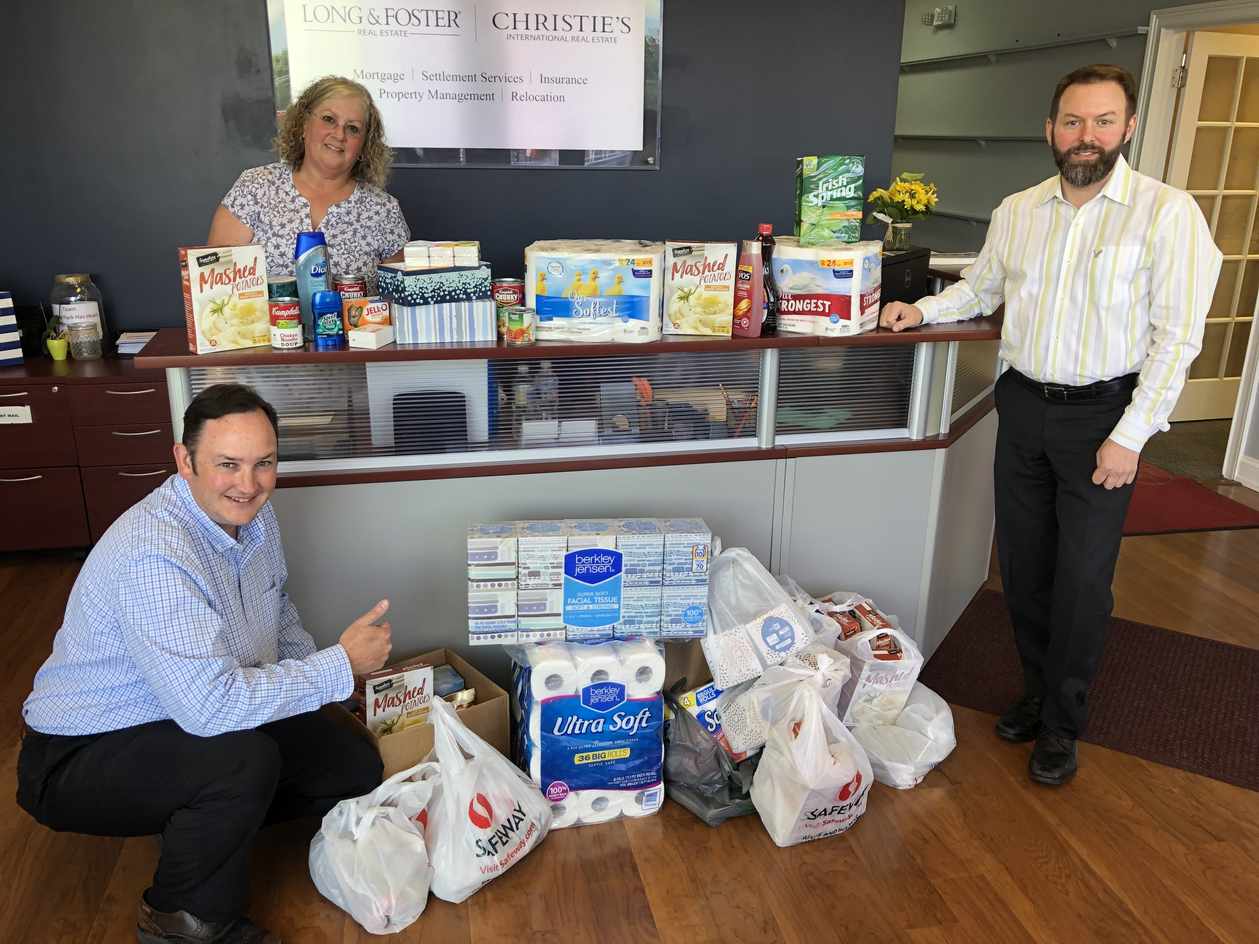 Agents in the Severna Park office participate in Community Service Day