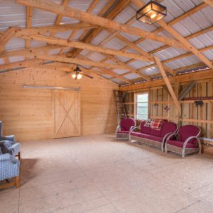 Sitting room in the barn