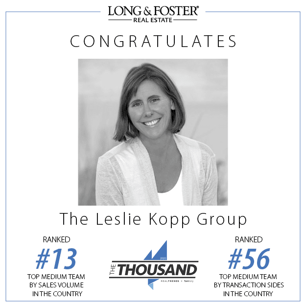 Leslie Kopp Ranks in REAL Trends The Thousand photo